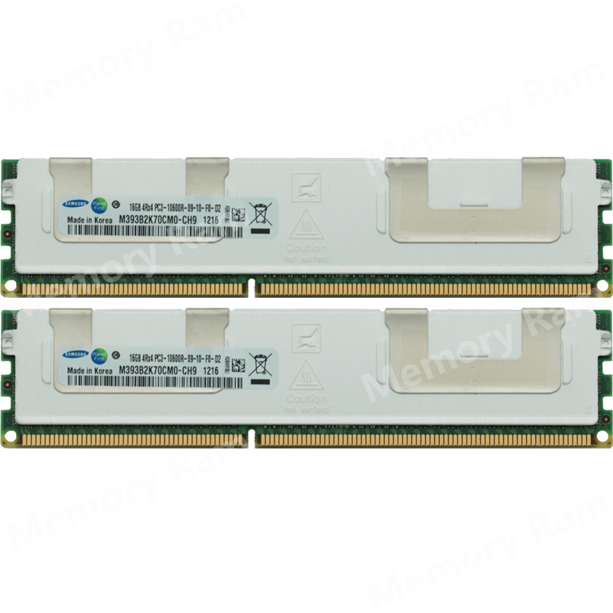 Samsung 64GB PC3-10600R 4RX4 DDR3-1333Mhz 240Pin REG Server Memory Ram 4X16GB