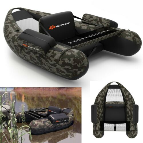 Fishing Boat Inflatable With Pump Blow Up Boat With Storage Portable Camouflage