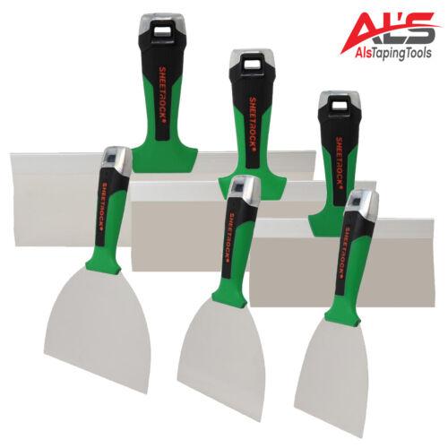 "USG Sheetrock Tools MATRIX Stainless Steel Finishing Knife Set (4,5,6,8,10,12"")"