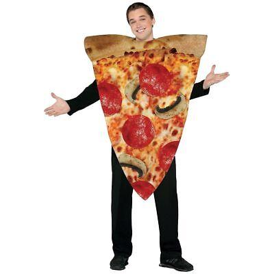 Rasta Imposta Adult Pizza Slice Costume - One Size