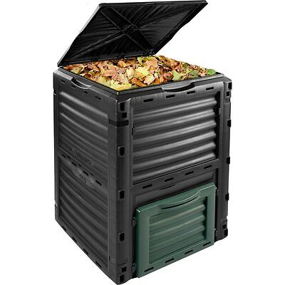 New Composter Bin Compost Converter 300L Storage Box Flower Waste Outdoor Garden