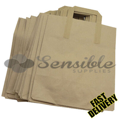 1500 X LARGE BROWN KRAFT PAPER SOS BAGS - 10 X 5.5 X 12.5