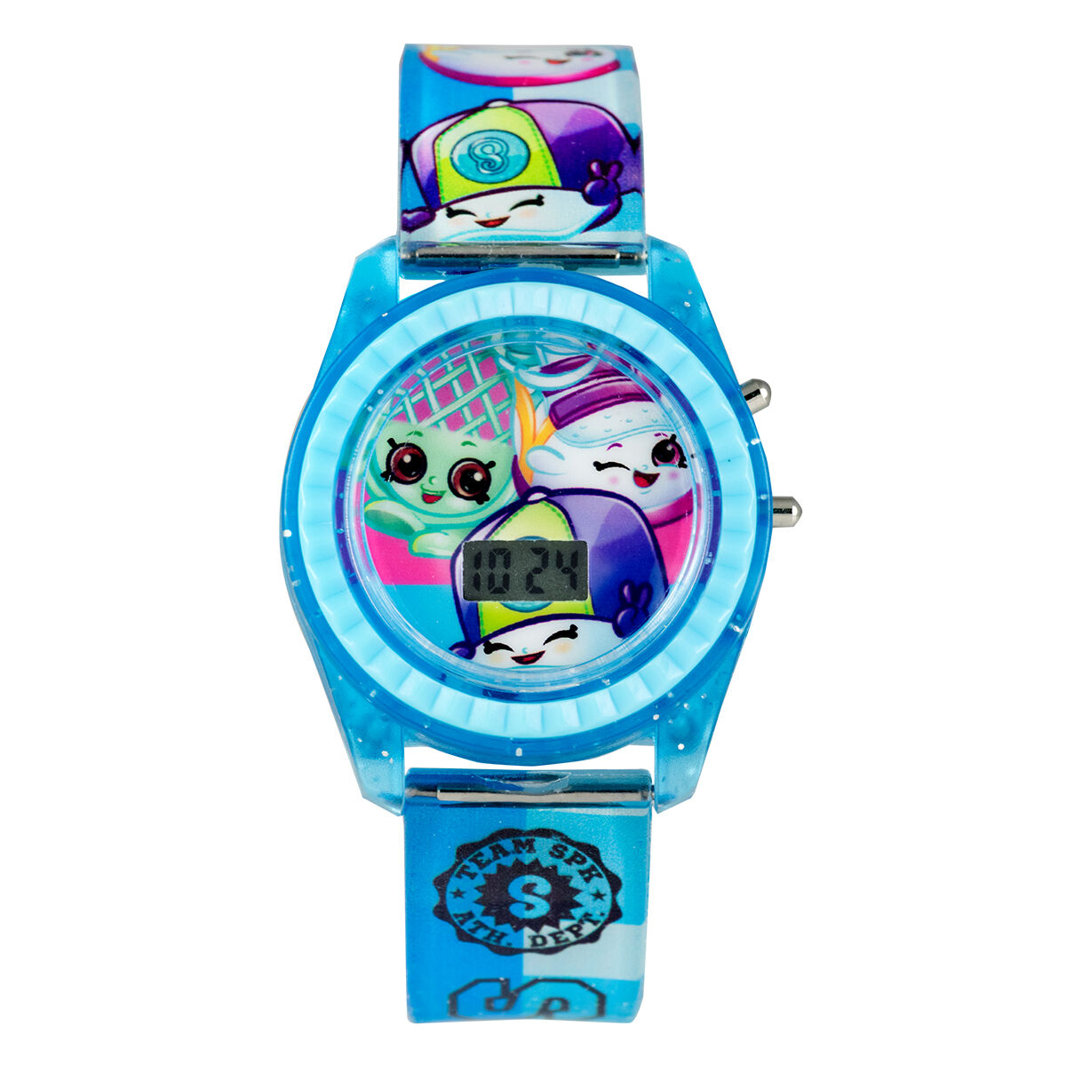Shopkins Watch Light Up LCD Digital Dial Watch with Blue Plastic Band KIN4110
