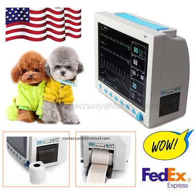 Fda Veterinary Patient Monitor Cms8000 Vet Ccu Vital Signs 6 Parameter Printer