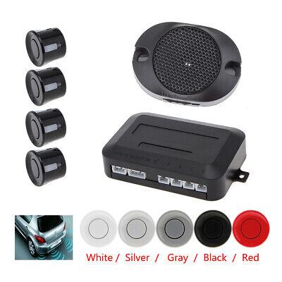 Buzzer Audible Alarm Waterproof Car Parking Sensor 4 Sensors System - 5 Colors