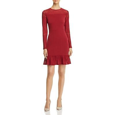MICHAEL Michael Kors Womens Lace Trim Knee-Length Flounce Dress BHFO 4459