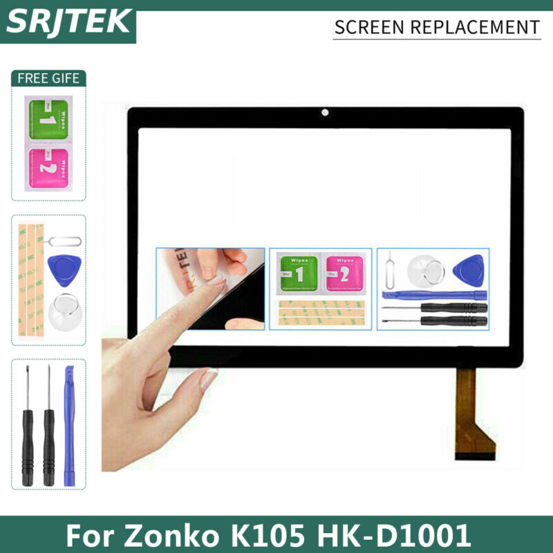 For Zonko K105 HK-D1001 Tablet PC Touch Screen Replacement Sensor Panel Parts