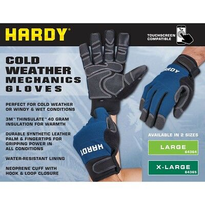 Work Gloves Xl Wind And Water Resistant Cold Weather Winter 3m Thinsulate