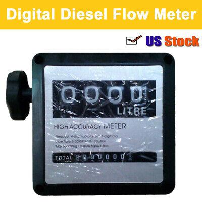 Oil Flow Meter - Flow Meter Digital Petrol Diesel Fuel Oil Consumption Counter Meter ±1% Accuracy