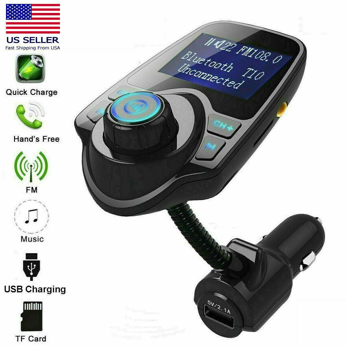 Bluetooth Car Kit FM Transmitter Wireless Radio Adapter USB