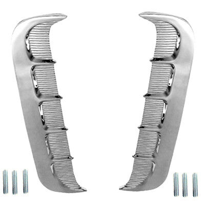 Mustang Quarter Panel Ornaments - 1965 Mustang Quarter Panel Chrome Vent Emblem Ornaments Left & Right -M3513
