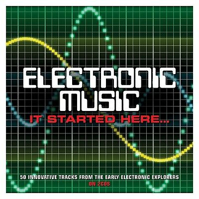 Electronic Music (It Started Here) VARIOUS ARTISTS Best Of 50 Songs NEW 2 CD