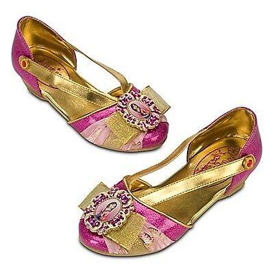 Disney Store Asian Princess Mulan Costume Shoes Gold Size 11 / 12 Toddler NEW - Asian Princess Costume
