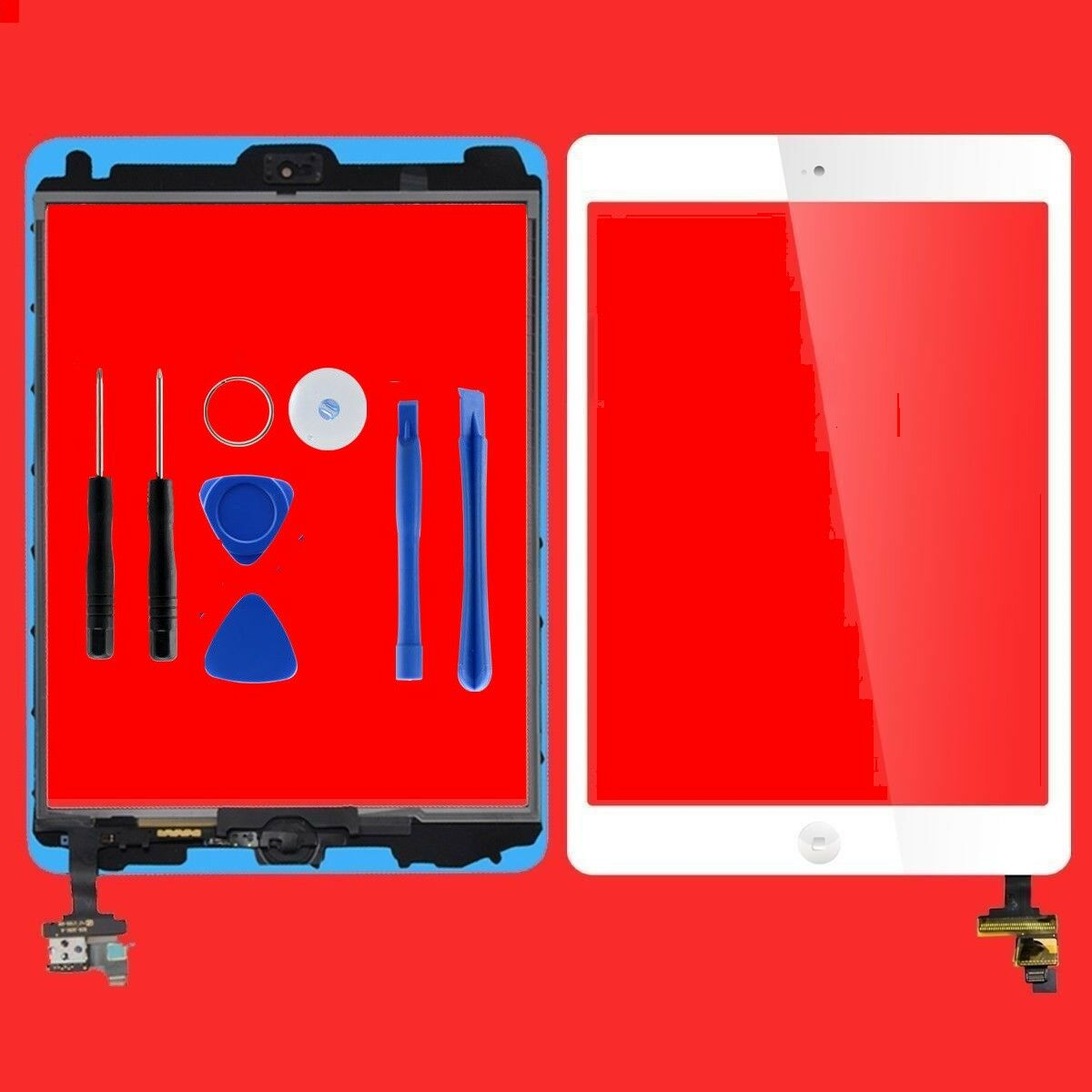 Touch Screen Glass Digitizer Screen replacement for iPad Mini 1st 2nd White Computers/Tablets & Networking