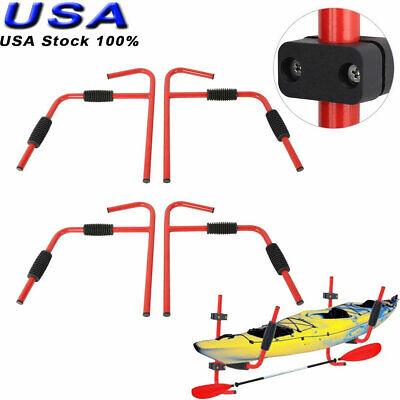 2 pair Steel Kayak Ladder Wall Mount Storage Rack Surfboard Canoe Folding Hanger