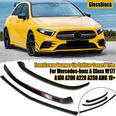 2x Stoßstange Splitter Lip Canard Trim Carbon Für Mercedes A Class W177 A220 AMG