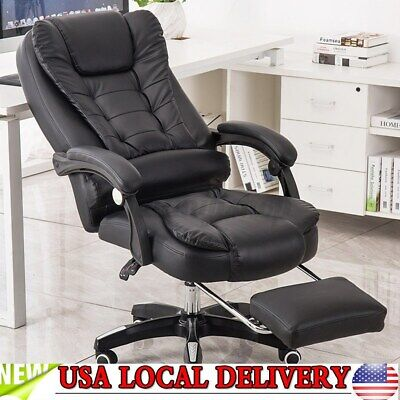 Gaming Chair Massage Seat 135° Office Executive Computer Desk Swivel Recliner