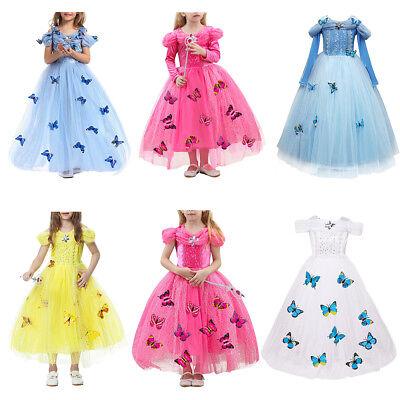 Butterfly Costume For Girls (Cinderella Sandy Princess Butterfly Cosplay Costume Kids Girls Party Fancy)