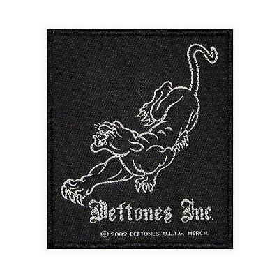 """Deftones Inc"" Black Panther Logo Rock Metal Music Woven Sew On Applique Patch"