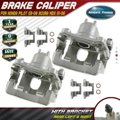 2x Brake Calipers For Honda Pilot 2003-2008 Acura MDX 2001