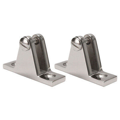 2X Marine Boat Deck Hinge Mount For Bimini Top Stainless Steel Fitting Hardware ()
