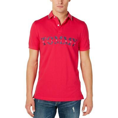 Tommy Hilfiger Mens Logo Collar Short Sleeves Polo Shirt BHFO 5596