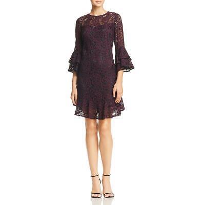Eliza J Womens Lace Ruffled Party Cocktail Dress BHFO 6380