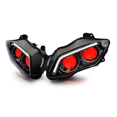 KT LED Headlight for Yamaha YZF R1 2007-2008 V2 Red