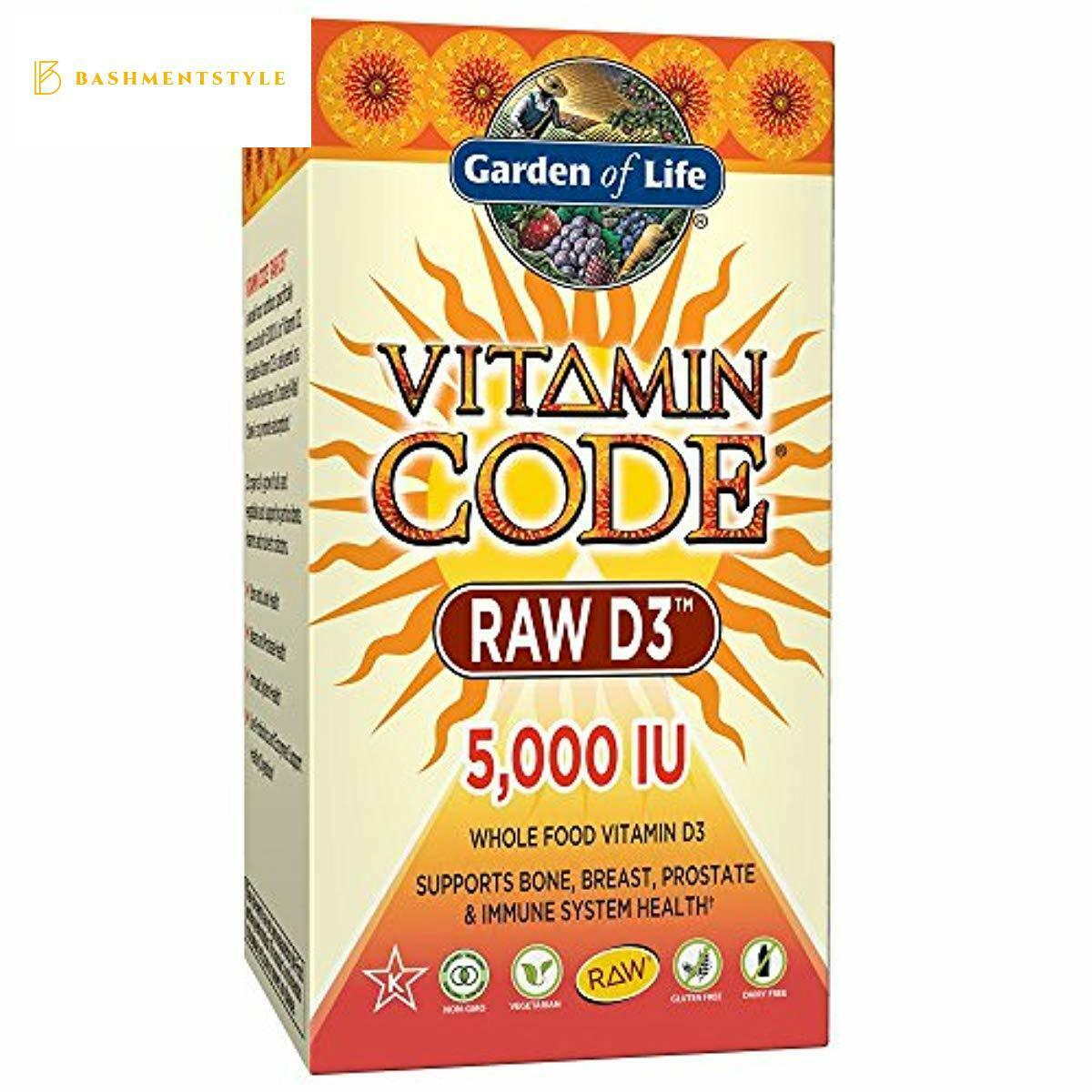 Garden of Life Raw D3 Supplement - Vitamin Code Whole Food V