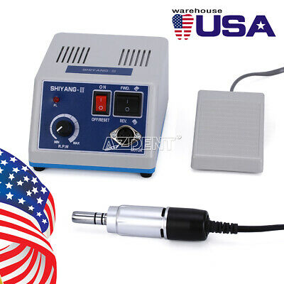 Dental Lab Motor Unit Electric Micromotor N335k Rpm E Type Handpiece Usa Stock