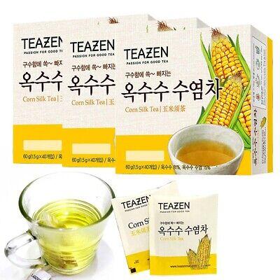 Korean herbal Healthy TeaZen Corn Silk Tea (1.5g x 40Tea x 3box) 120 Tea bags