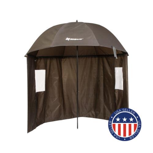 NISUS Fishing Umbrella with Half-Perimeter Zipper-up Wind Rain Shelter