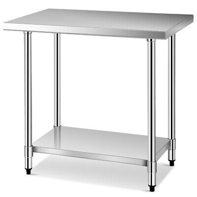 24 X 36 Food Prep Work Table Commercial Stainless Steel Sturdy Frame