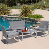 4PC Wicker Patio Furniture Set