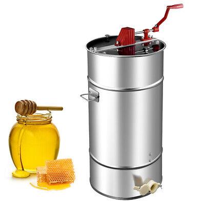 Goplus 2 Frame Stainless Steel Honey Extractor Manual Beekeeping Equipment