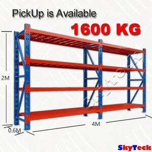4M METAL SHELVING WORKBENCH RACKING SYSTEM 1600kg-4020BO Geelong Geelong City Preview