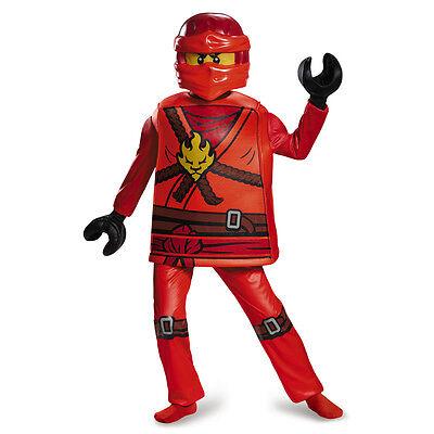 Kai Deluxe Ninjago Red LEGO Child Costume | Disguise 98105 (Ninjago Costumes Kai)