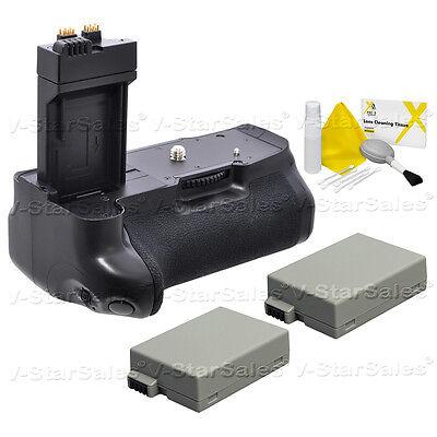 Battery Grip For Canon Eos Rebel T2i/t3i/t4i + 2x Lp-e8 B...