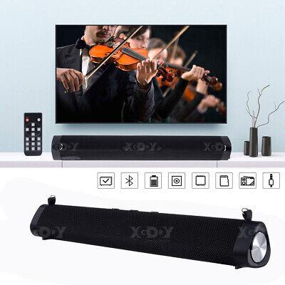 16W Bluetooth 5.0 Soundbar Subwoofer Fernbedienung Lautsprecher für TV PC Handy