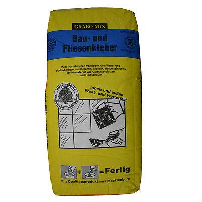 Bau- & Fliesenkleber 25 kg Sack Baukleber INNEN/AUSSEN Wand- und  Bodenfliesen Innere Boden