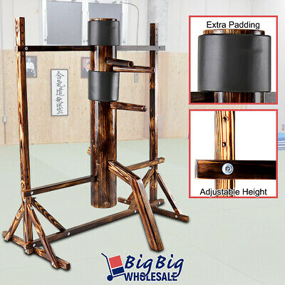 Wing Chun Solid Wooden Adjustable Frame Training Dummy Traditional Martial Arts