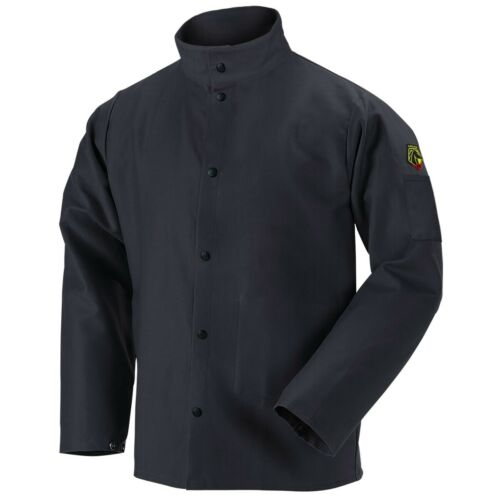 Revco Black Stallion 9oz Black FR Cotton Welding Jacket (Large) (FBK9-30C)