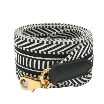 HERMES Sangle Cavale 50 mm Bag Shoulder Strap Black Canvas Gold Plated Hardware