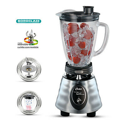 Oster 220V Chrome Blender with Glass Jar 220-240V (NOT FOR (Best Countertop Blenders)