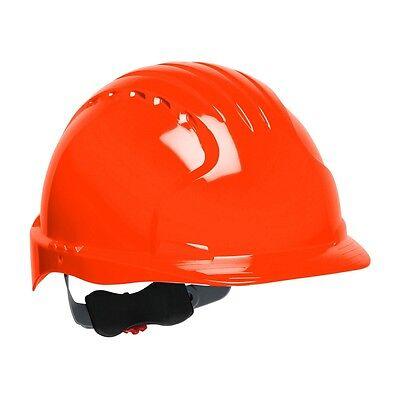 Jsp Hard Hat Orange Cap Style With 6 Point Ratchet Suspension