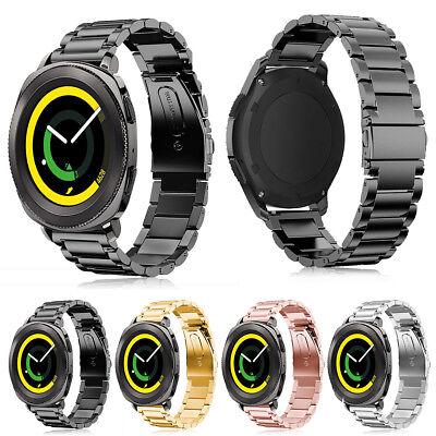 Stainless Steel Folding Clasp - Folding Clasp Stainless Steel Watch band Strap For Samsung Gear Sport SM-R600