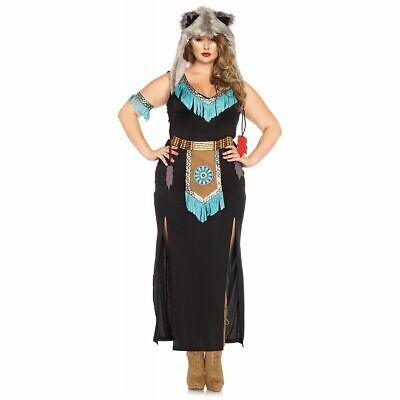WOLF WARRIOR Plus Size 3X-4X Women's Native American Indian - Wolf Warrior Kostüm