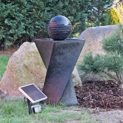 CLGarden Solar Springbrunnen NSP4 Solarbrunnen Garten Brunnen mit Akku LED