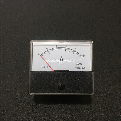 1pcs Analog Amp Panel Meter Current Ammeter Dc 0-10a 10a Dh670 Ampere Meter