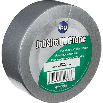 Case Of 20 Silver Intertape Jobsite Ductape Duct Tape 2 In. X 45 Yd.